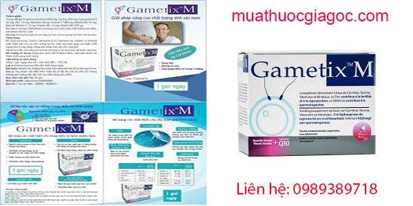 Thành phần của Gametix M