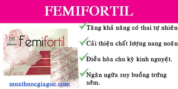 Tác dụng của Femifortil