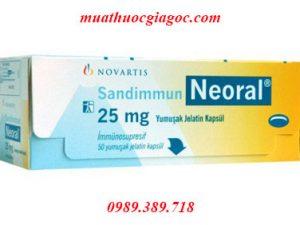 Thuốc Neoral 25mg, 50mg, 100mg mua ở đâu?