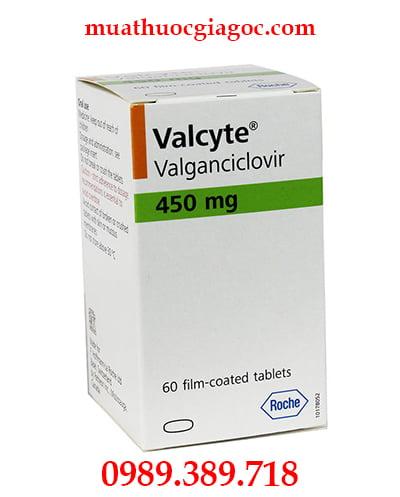 Thuốc Valcyte 450mg chính hãng mua ở đâu, giá bao nhiêu?