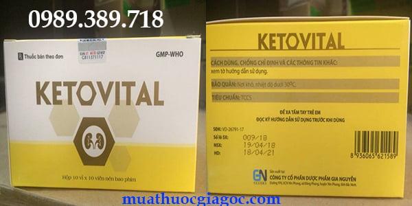 Thuốc Ketovital chính hãng mua ở đâu, giá bao nhiêu tiền?