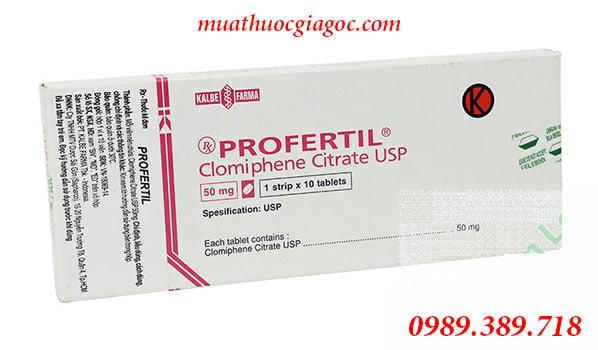 Thuốc Profertil 50mg mua ở đâu, giá bao nhiêu?