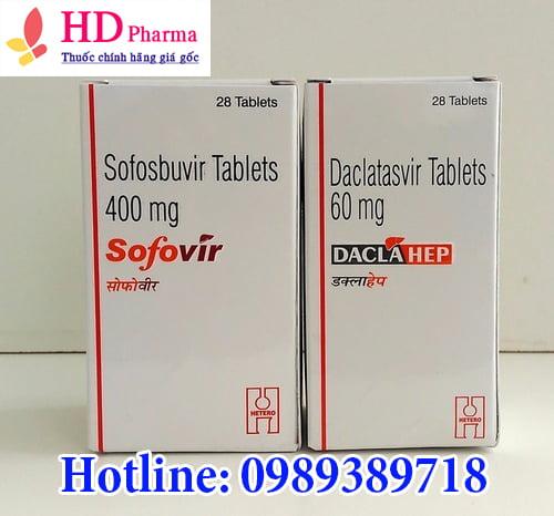 thuốc Daclahep 60mg điều trị viêm gan C giá bao nhiêu mua ở đâu chính hãng