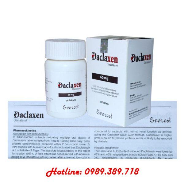 Giá thuốc Daclaxen 60mg