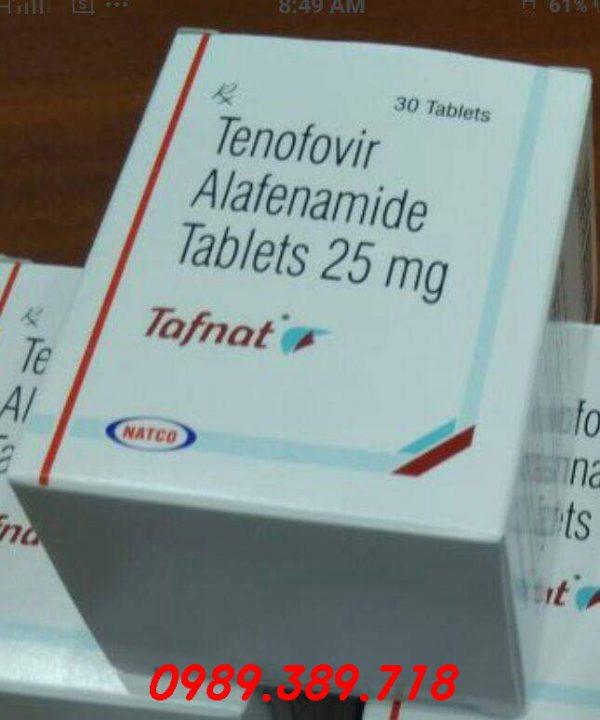 Giá thuốc Tafnat 25mg